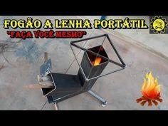 Fogão a Lenha Portátil / Wood Burning Stove - DIY - YouTube