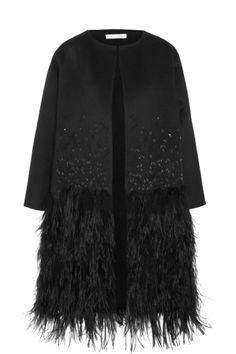 Oscar de la Renta   Embellished wool, angora and cashmere-blend coat   NET-A-PORTER.COM