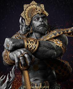 Art by Gaurav kumar LORD HANUMAN Hanuman is an ardent devotee of Lord Rama and one of the central characters in the various… Hanuman Photos, Hanuman Images, Hanuman Chalisa, Hanuman Tattoo, Ganesha Tattoo, Hare Krishna, Hanuman Ji Wallpapers, Mahakal Shiva, Durga Kali