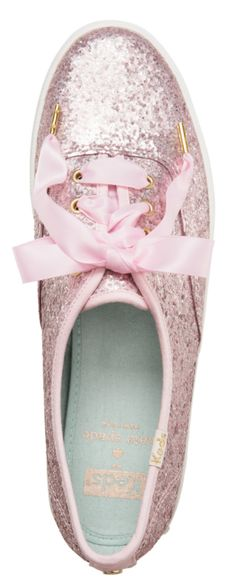 Love these glitter kate spade sneakers