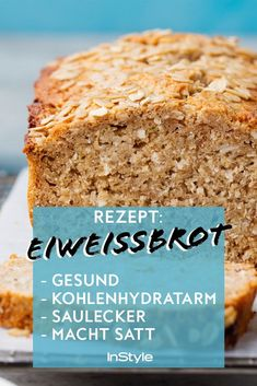 Dieses Brot ist gesund, kohlenhydratarm, saulecker und macht satt Yes, there is bread that is low in carbohydrates, healthy and delicious. And it also makes you full! No Calorie Foods, Low Calorie Recipes, Healthy Dinner Recipes, Soup Recipes, Bread Recipes, Law Carb, Easy Meals, Food And Drink, Tasty