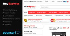 BuyExpress OpenCart Theme . This is the OpenCart version of my latest Magento Theme which can be found