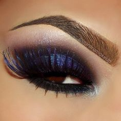 Deep blue smokey eye #eyes #eye #makeup #eyeshadow #dark #dramatic
