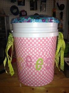 """Girl Scout Camping Sit-Upon Buckets """"Bum Kits"""" 