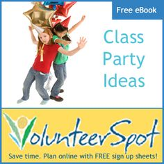 Great Resource! Fun Class Party games, themes, crafts & snacks over on SignUp.com - click image to check out their free eBook!