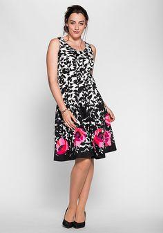 sheego Style Kleid mit Alloverdruck