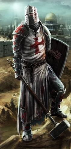 Discover Knight Templar Warrior T T-Shirt, a custom product made just for you by Teespring. - Beautiful and quality Knight Templar Warrior T. Armadura Medieval, Medieval Knight, Medieval Fantasy, Templar Knight Tattoo, Crusader Knight, Christian Warrior, Warrior Tattoos, Templer, Knight Art