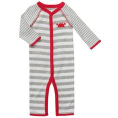 Cotton Snap-Up Jumpsuit | Baby Boy Pajamas Size: NB