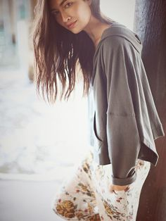 e7f26209ae048 We The Free Cropped Zip Hoodie at Free People Clothing Boutique
