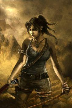 """Lara Croft Reborn"" •Nathalia Gomes"