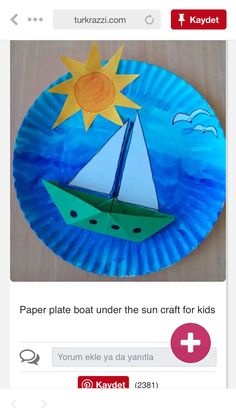 Sun Crafts, Boat Crafts, Diy And Crafts, Crafts For Kids, Social Activities, Preschool Activities, Show And Tell, Drawing For Kids, Origami