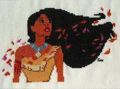 Pocahontas cross stitch by Santian69