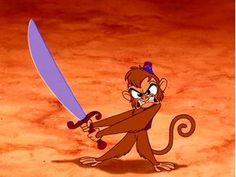 """""""He's got a sword!""""  """"You idiot, we all got swords!!"""" Old School Disney humor was the best!"""