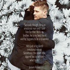 Aww I love their bromance! Jared and Jensen