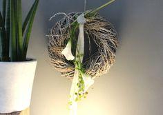 Inspirational WD u Aussergew hnliche Wanddeko Gespaltenes Kokosblatt dekoriert mit nat rlichen Materialien und einer Edelstahlkugel Passend zu unserer Tisc u