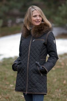 5aa85e5965b1e Amazon.com  Women s M. Miller Strella Coat with Raccoon Fur Trim  Clothing