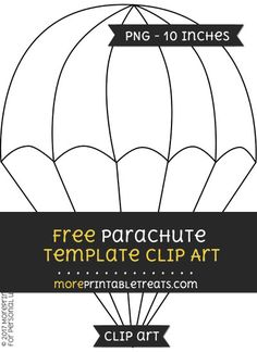Free Parachute Template - Clipart
