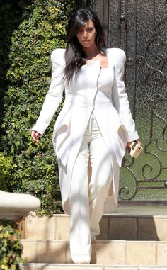 Well, All White Now! from Kim Kardashian's Pregnancy Style | E! Online