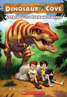 This series (Dinosaur Cove by Rex Stone) was a favourite for a while - I liked it because one of the main characters carries (and uses ) a sketch book - a habit that was copied from the book and has endured so far - the series is way too short though