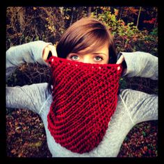 red infinity scarf/cowl $42