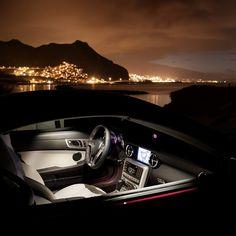 Stunning Mercedes Benz SLK At Night.