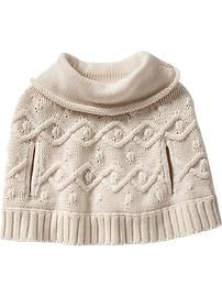 Cowl-Neck Ponchos for Baby