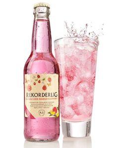 I probably can't get it here, but boy is it pretty! Rekorderlig cider- Mango Raspberry. Swedish origin
