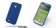 PDair Luxury Silicone Case for Samsung Galaxy S4 SIV LTE GT-i9500 GT-i9505 (Deep Blue)