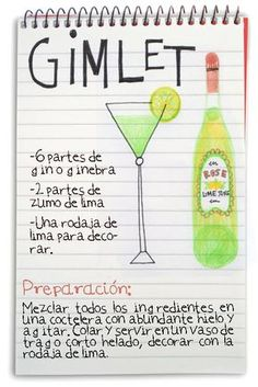 :D jeanclaudevolldamm: Gimlet Bar Drinks, Wine Drinks, Alcoholic Drinks, Mojito, Gin Premium, Cocktail Shots, Long Drink, Gin Fizz, Alcohol Recipes