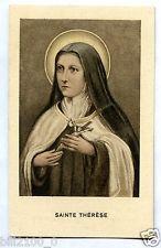IMAGE PIEUSE SANTINI HOLY CARD . Ste Thérèse de l'enfant Jesus