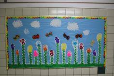 Handprint flowers bulletin board
