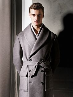 Clément Chabernaud Connects with Canali for Elegant Fall/Winter 2014 image Mens Winter Fashion Trends, Suit Fashion, Mens Fashion, Man's Overcoat, Fall Winter 2014, Autumn, Well Dressed Men, Gentleman Style, Men Dress