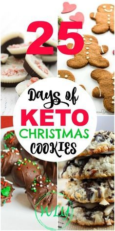 25 Days of Keto Christmas Cookies (Gluten free, sugar free and low carb) The BEST 25 Keto Christmas cookies out there that make the perfect keto holiday recipes to serve your loved ones. Healthy and Low carb Christmas cookies make it easy to stick to your Desserts Keto, Keto Friendly Desserts, Sugar Free Desserts, Keto Snacks, Dessert Recipes, Dinner Recipes, Breakfast Recipes, Keto Desert Recipes, Health Desserts