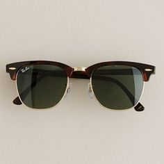 Mens accessories - necessary luxuries - Ray-Ban- Clubmaster- sunglasses -  J.Crew More Favorite Style, Fashion Styles, Activities Lifestyle, Ray Ban 6bb567eb66