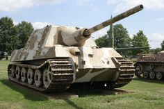 Jagdtiger tank destroyer armed with a powerful 128 mm gun