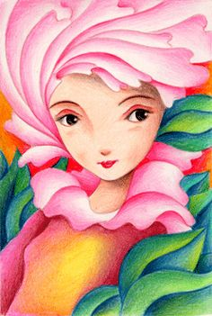 Fairy tale pictures - Princess of flower