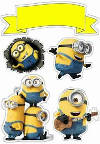 Minions Free Printable Cake Toppers With Images Minion