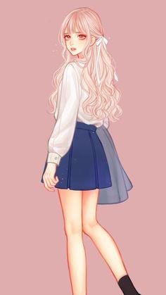Ideas For Wall Paper Anime Kawaii Heart Baby Cartoon Drawing, Baby Drawing, Girl Cartoon, Cartoon Drawings, Drawing Drawing, Cartoon Illustrations, Drawing Ideas, Art Drawings, Pretty Anime Girl
