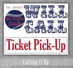Washington Nationals Baseball Wedding Will Call by CuttingItUp