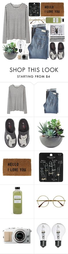 """""""Bird Song"""" by hannah-gw-martin ❤ liked on Polyvore featuring T By Alexander Wang, AG Adriano Goldschmied, Haflinger, Rough Fusion, Sugarboo Designs, Topshop, Archipelago Botanicals, Retrò and Kristin Cavallari"""
