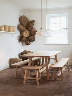 WoodEdit: A New Collection of Hand-Crafted, Hard-Working Wooden Furniture - Remodelista Wooden Furniture, New Furniture, Swedish Decor, Scandinavian Style, Country Living Decor, Country Farm, Take Me Home, Crafts, Dining Table