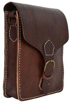 "Gusti Leder nature ""Robert"" Genuine Leather Satchel Shoulder Bag Handbag College Style Casual Everyday Cross Body Bag Dark Brown Unisex M4: Amazon.co.uk: Shoes & Bags"