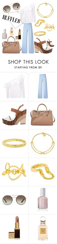 """~Ruflles~"" by marielle80 ❤ liked on Polyvore featuring Petersyn, Christopher Kane, Jimmy Choo, Giles & Brother, Prada, Essie and Tom Ford"