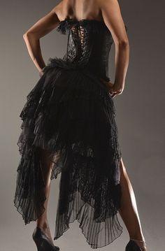 corset dress black gothic