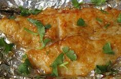 Beachloverkitchen: Grilled Tilapia with Honey BBQ Sauce