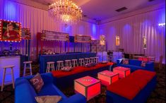 Cool Bar Mitzvah Party Lounge - NY Giants Football Theme NYC {Party Planner: The Event of a Lifetime} - mazelmoments.com