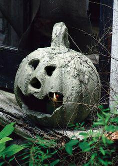 One Kings Lane - Halloween Party - Rustic Clay Jack-O-Lantern