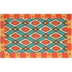 Safavieh Four Seasons Archer Framed Geometric Indoor Outdoor Rug, Multicolor