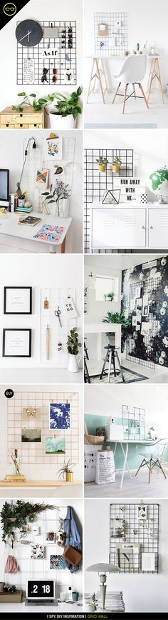 INSPIRATION | Wall Grid Organization