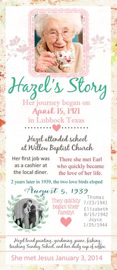 The Story: In Memory Of Funeral Program by DeerlyDesigned on Etsy